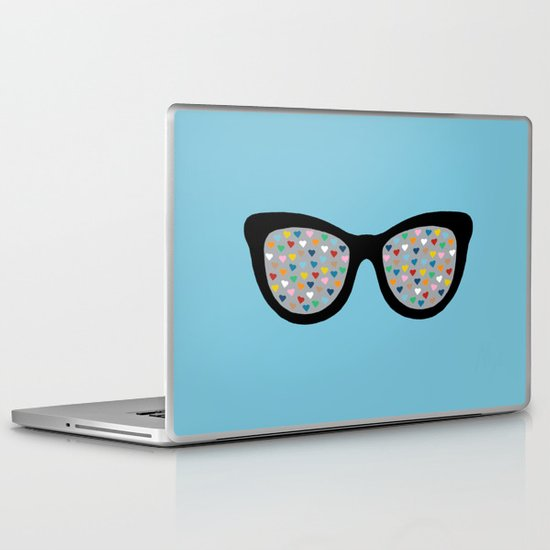 Heart Eyes Laptop & iPad Skin