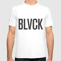 BLVCK Mens Fitted Tee White SMALL