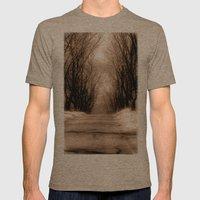 Country Lane Mens Fitted Tee Tri-Coffee SMALL