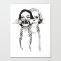 Flesh, Bone, and Braids Canvas Print