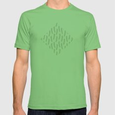 Branches in Silver Mens Fitted Tee Grass SMALL