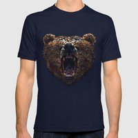 Floral Bear Mens Fitted Tee Navy SMALL