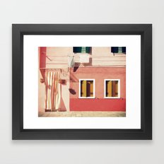 Pink House Framed Art Print