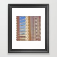 Window & Curtain Framed Art Print