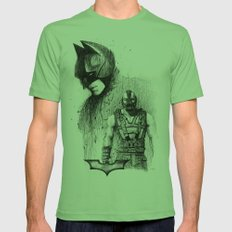 Bat In Black (The Dark Knight Rises) Mens Fitted Tee Grass SMALL