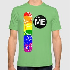 Freedom Flag Rainbow Bor… Mens Fitted Tee Grass SMALL