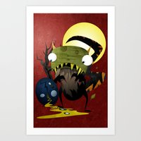 Who Cracked That Egg? Art Print
