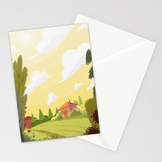 Campagne ensoleillée / Sunny countryside Stationery Cards