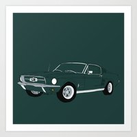 1968 Ford Mustang GT Art Print