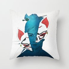 Fox Mask Throw Pillow