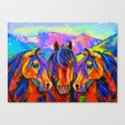 Painted Horses Canvas Print