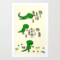 Tim The T Rex Art Print