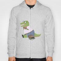 Hipster Dinosaur Jammin' on his Fiddle Hoody