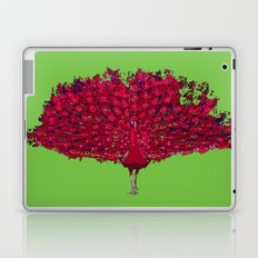 Peacock - red Laptop & iPad Skin