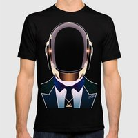 Daft Punk Mens Fitted Tee Black SMALL