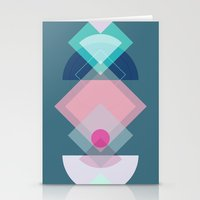 Geometric Play 1 Stationery Cards
