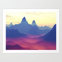 Mountains Of Another Wor… Art Print