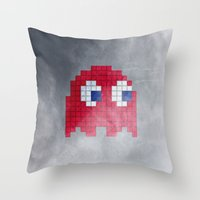 Pac-Man Red Ghost Throw Pillow