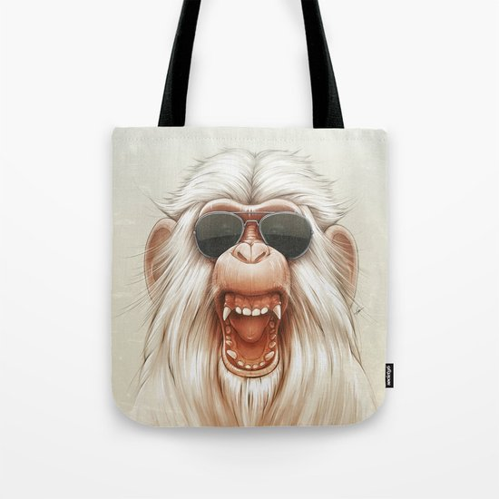 The Great White Angry Monkey Tote Bag