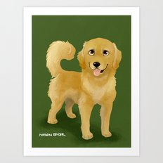 Golden Dog Art Print
