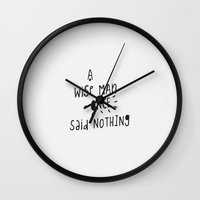 A Wise Man Once Said Not… Wall Clock