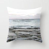 Frozen Maine Ocean Throw Pillow