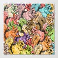Squirrels Parade Canvas Print