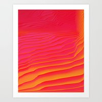 Heat Burst Art Print