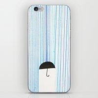 Mr. Invisible Doesn't Like Rain... iPhone & iPod Skin