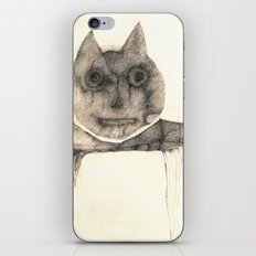 cat on the table iPhone & iPod Skin