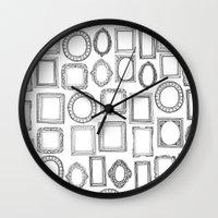 Picture Frames Mono Wall Clock