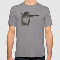 Miojo Cat. Mens Fitted Tee Athletic Grey SMALL