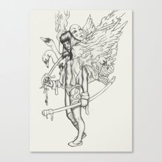 Sword and Swan Canvas Print