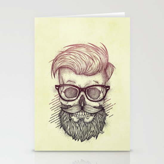 Hipster is Dead Stationery Card