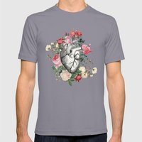 Roses For Her Heart Mens Fitted Tee Slate SMALL