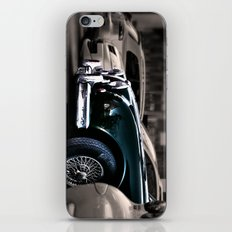 Green cat iPhone & iPod Skin