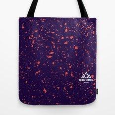 Trail Status / Purple Tote Bag
