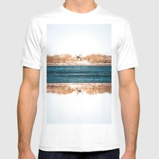 Montreal - Old Port I Mens Fitted Tee White SMALL