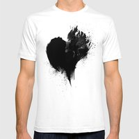 heart Mens Fitted Tee White SMALL