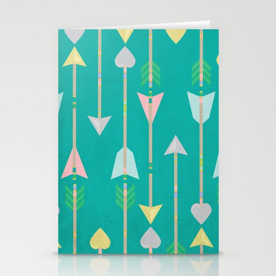 Native American Arrows Stationery Card