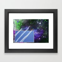 Beyond The Blue Yonder Framed Art Print