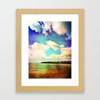 Rainbow Paradise Framed Art Print