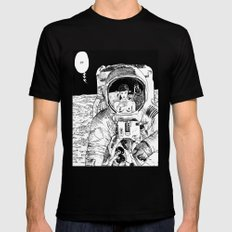 asc 333 - La rencontre rapprochée ( The close encounter) SMALL Black Mens Fitted Tee
