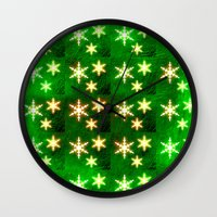 Exquisite Christmas Snow… Wall Clock