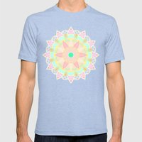 Pastel Mandala Mens Fitted Tee Tri-Blue SMALL