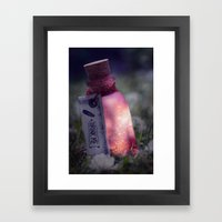 Drink me poison Framed Art Print