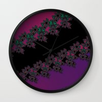 Fractal Layered Lace  Wall Clock