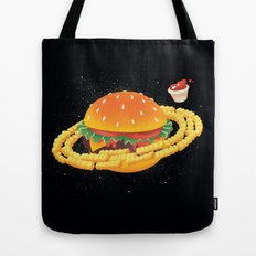Galactic Cheeseburger & Fries Tote Bag