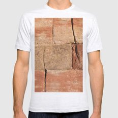 Ancient Sandstone Wall Mens Fitted Tee Ash Grey SMALL