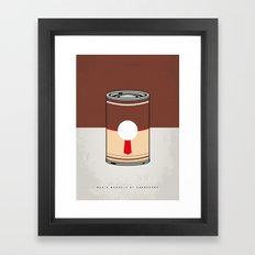 MY MARIO WARHOLS MINIMAL CAN POSTER-DONKEY KONG Framed Art Print